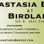 Anastasia Barzee at Birdland March 5, 2012 with an all-star band